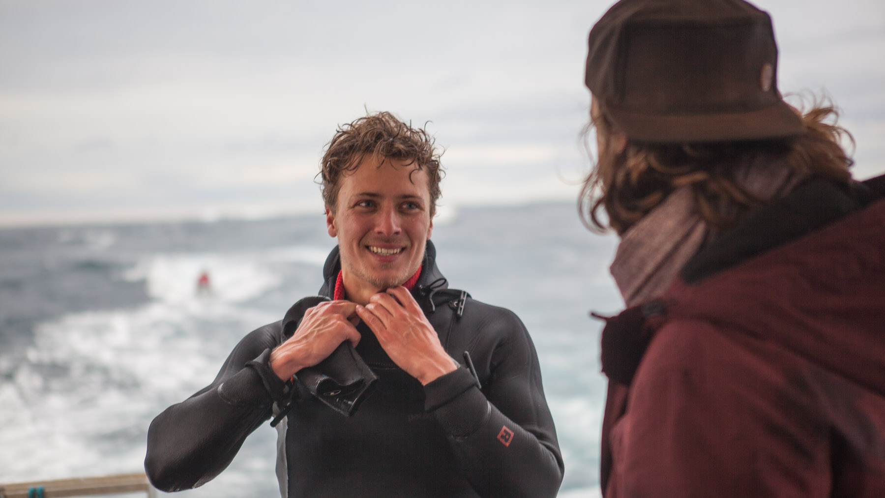 alastair mcleod successfully windsurfed pedra branca tasmania for red bull
