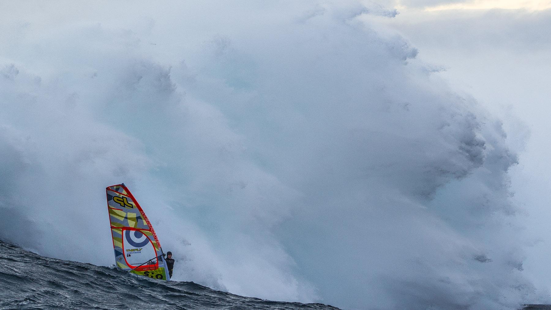 alastair mcleod windsurfing pedra branca tasmania for red bull