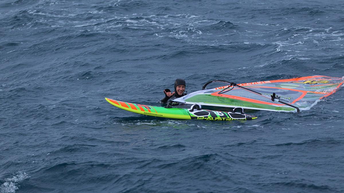 alastair mcleod windsurfing pedra branca tasmania