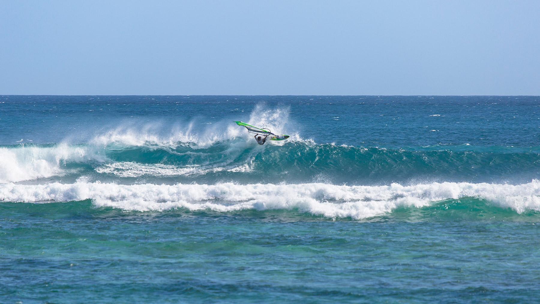 very good windsurfing in a secret spot