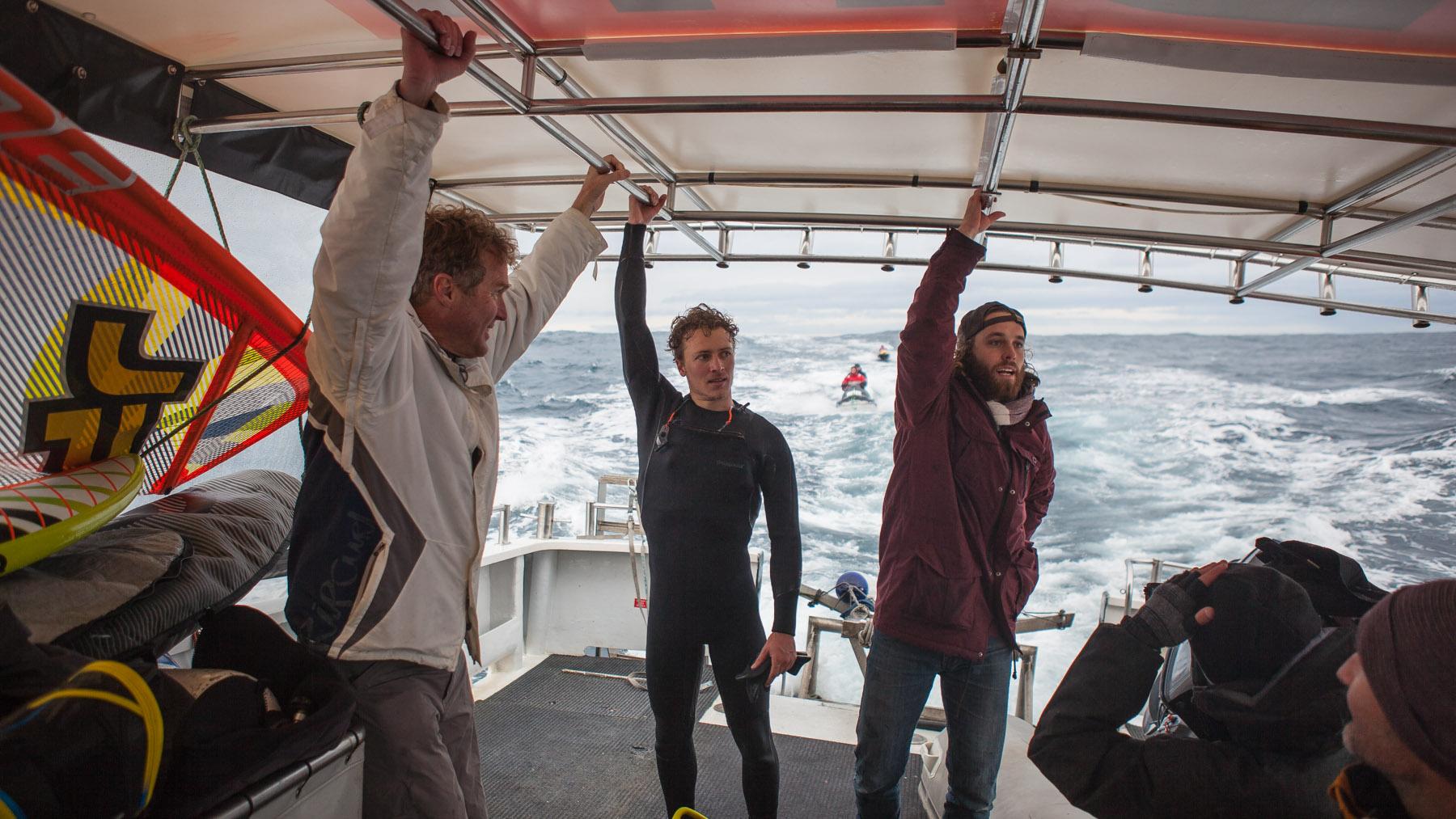 alastair mcleod successfully windsurfed pedra branca tasmania for red bull