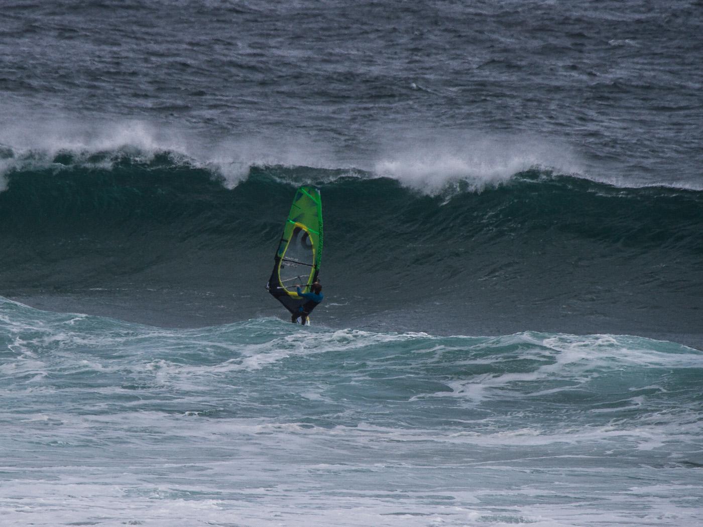 caught inside windsurfing at woolamai phillip island