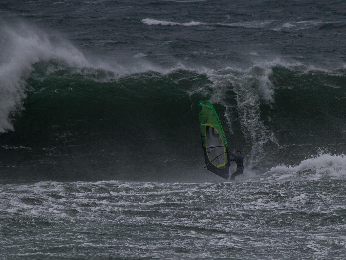 big waves windsurfing at woolamai phillip island