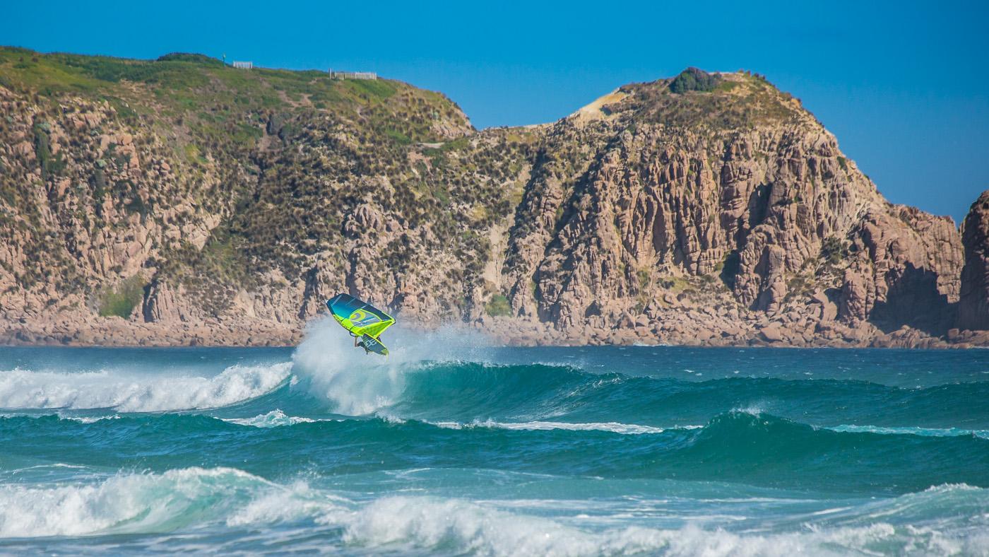 summer windsurfing at woolamai phillip island