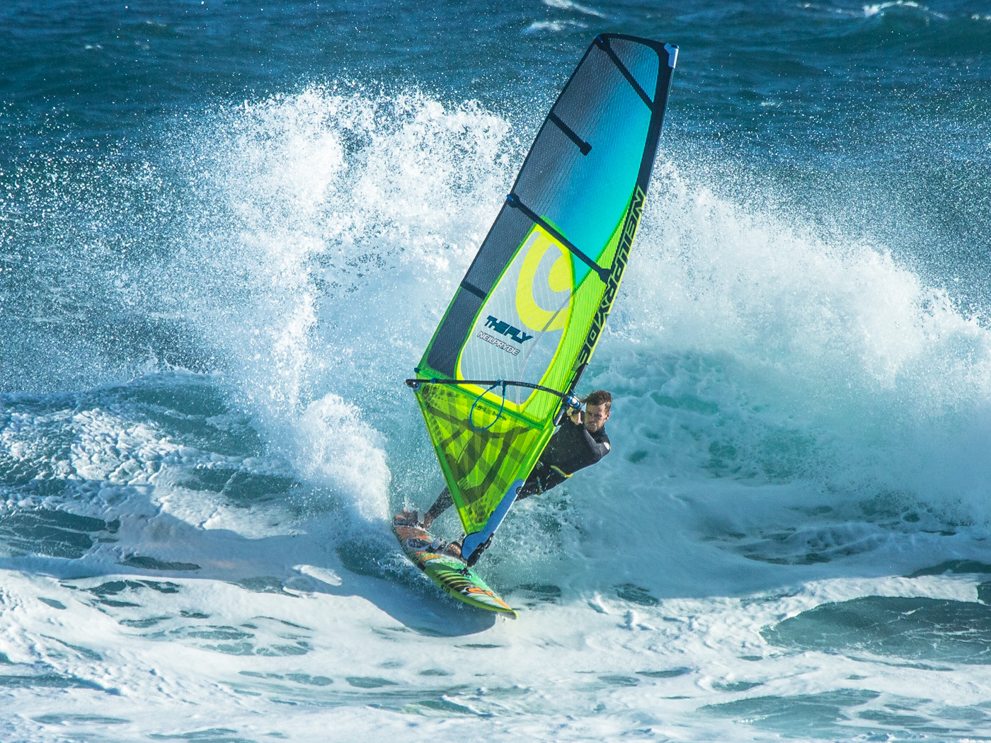 winter windsurfing at woolamai phillip island with whales