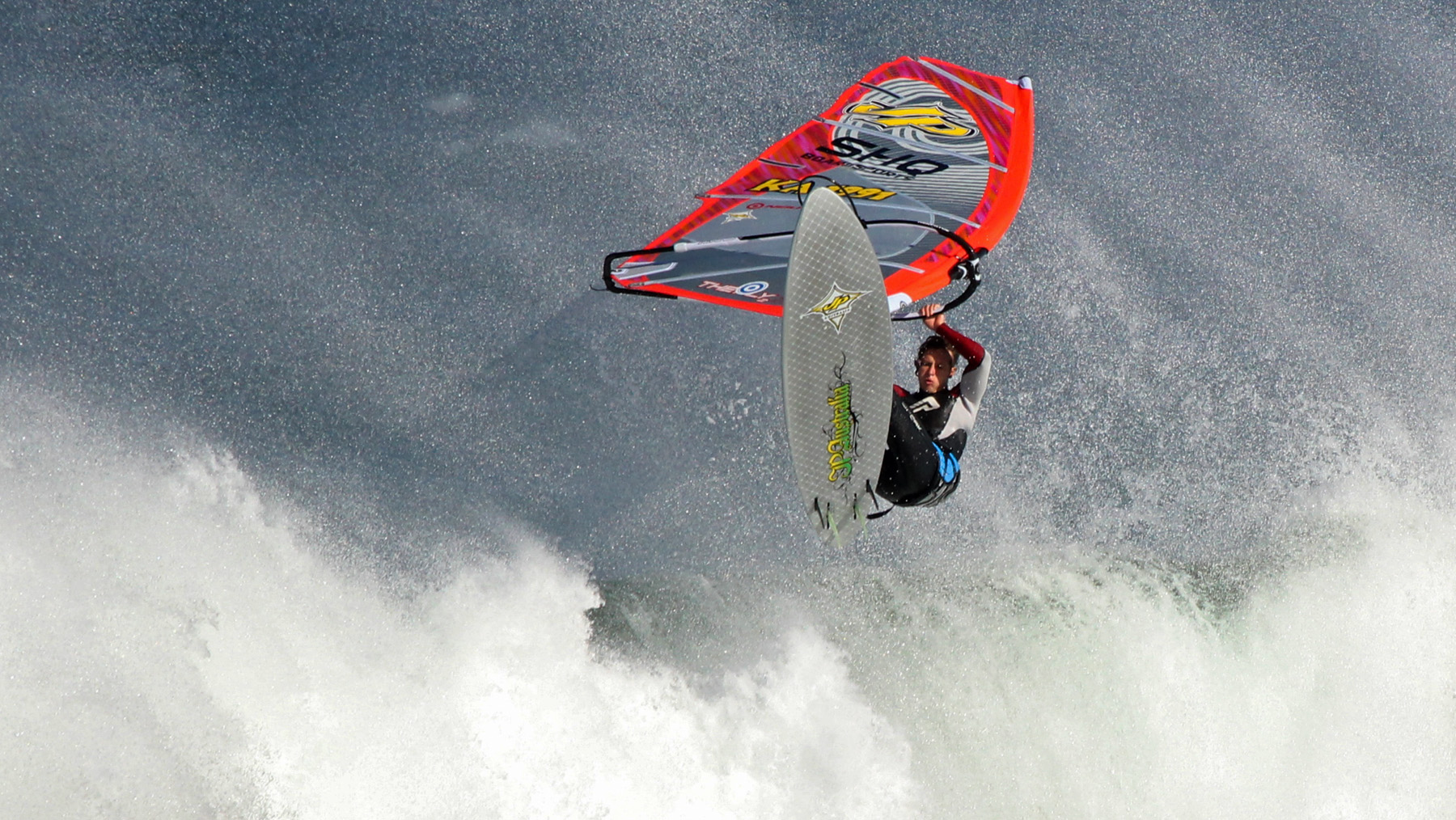 winter windsurfing at poo point 13th beach